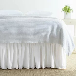 classic ruffle cotton 18 bed skirt