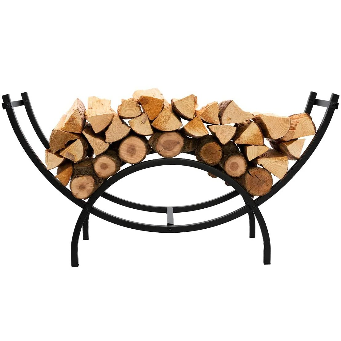 arlmont co curved heavy duty indoor outdoor firewood racks 40 inches log rack half round for wood storage