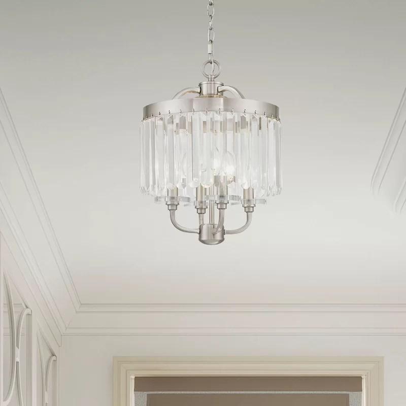 caroline 4 light crystal chandelier