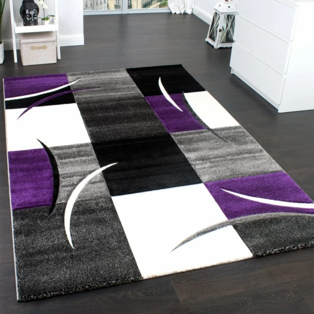 Zipcode Design Teppich Perla in Lila/Schwarz/Grau & Bewertungen | Wayfair.de