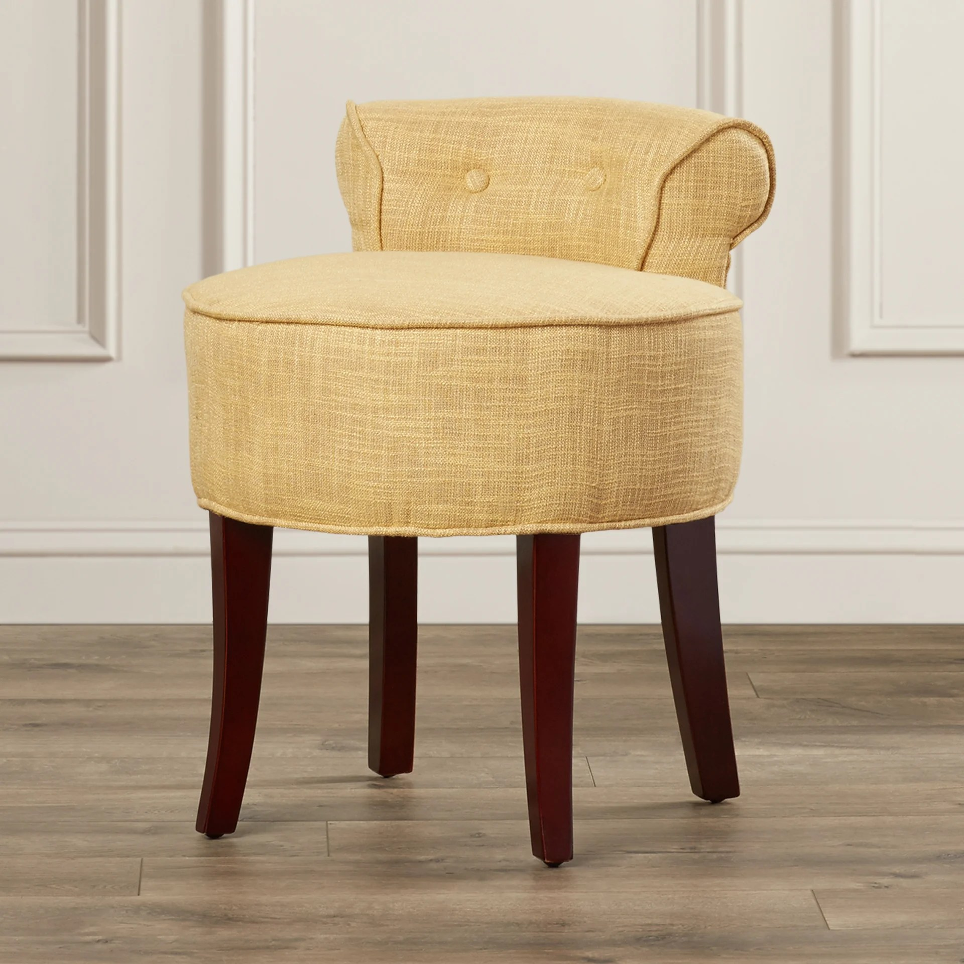 Clear Vanity Chair Darby Home Co Osteler Vanity Stool And Reviews Wayfair