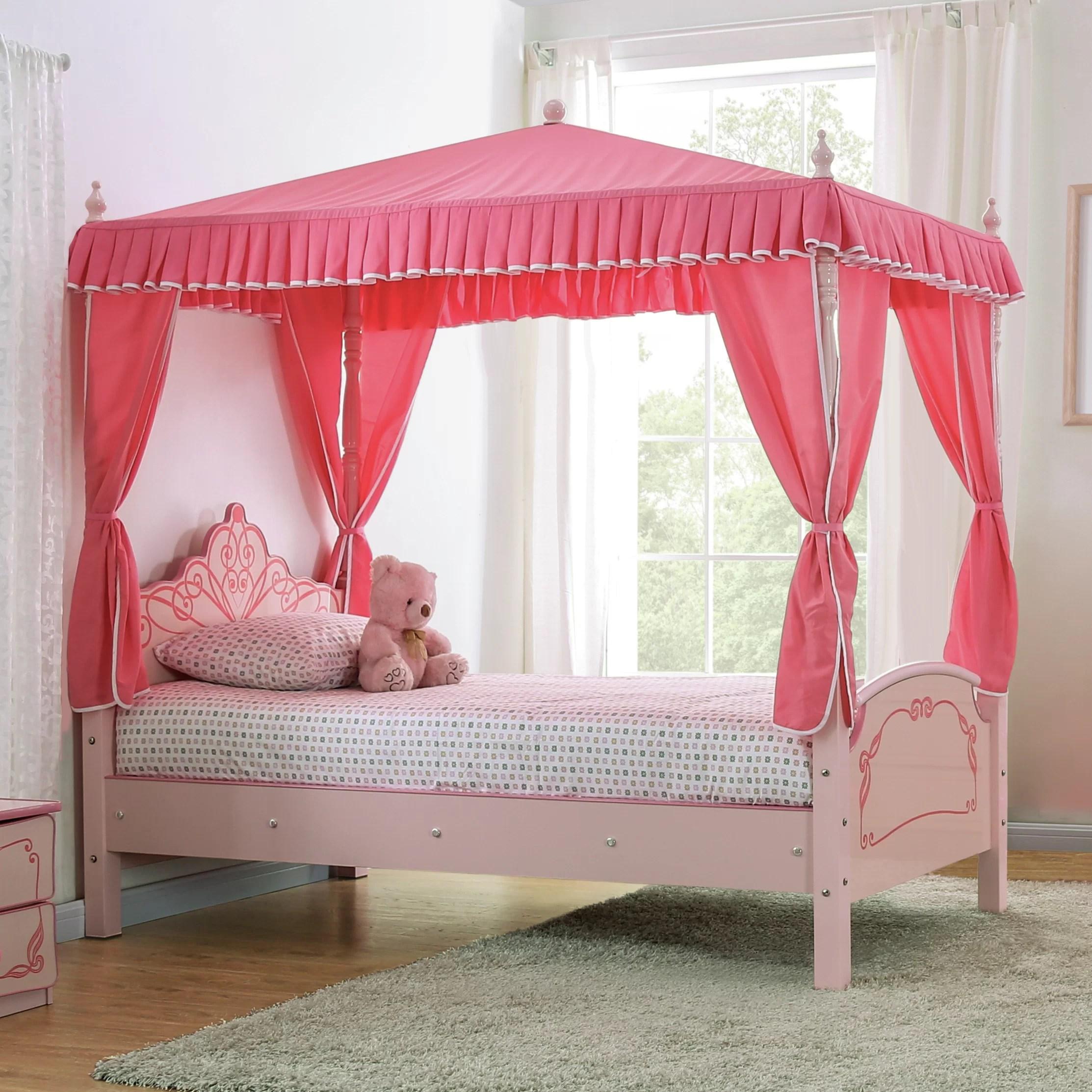 Zoomie Kids Garnett Twin Canopy Bed