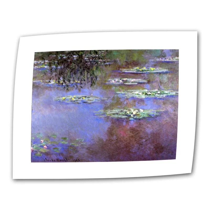 Sea Roses II by Claude Monet Print of Painting on Rolled Canvas Size: 18 H x 24 W