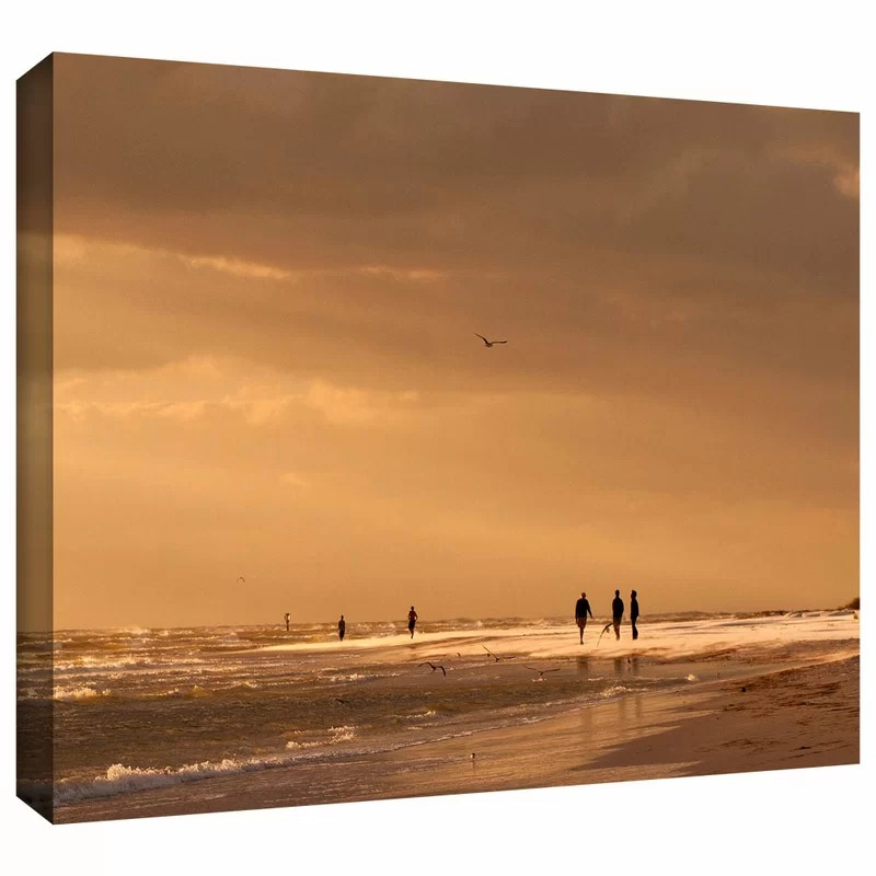 Walkers Siesta Key by Lindsey Janich Photographic Print on Wrapped Canvas Size: 16 H x 24 W