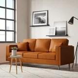 modern square arm sofas allmodern