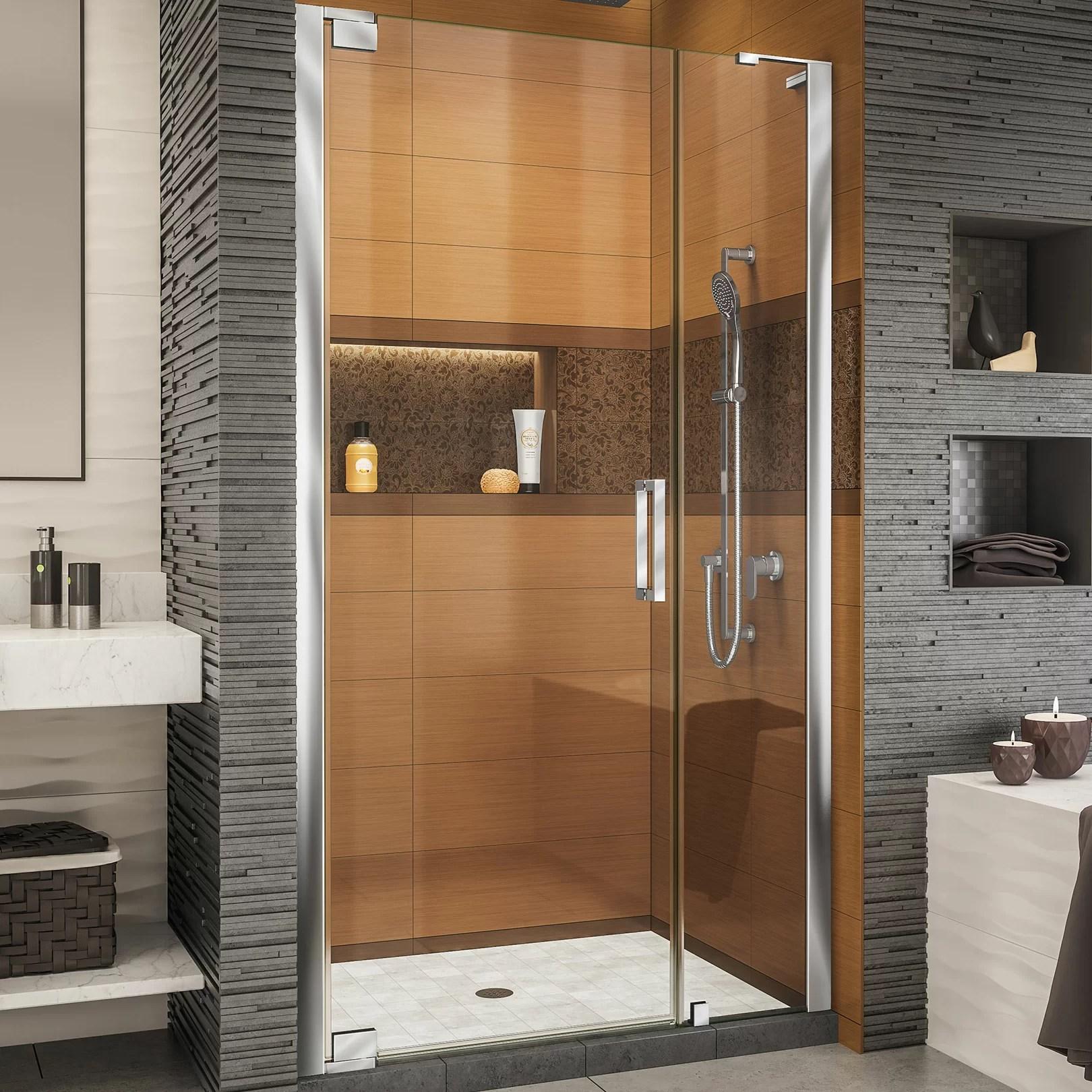 Elegance Ls 46 X 72 Pivot Frameless Shower Door With Clearmax Technology