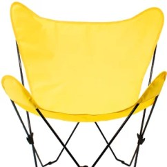 Yellow Chair Covers Pads For Wood Floors Wayfair Butterfly Cover