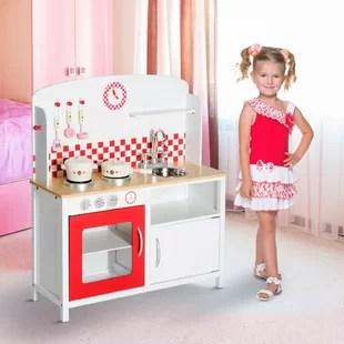 wooden kids kitchen best mats play wayfair co uk gustavo set