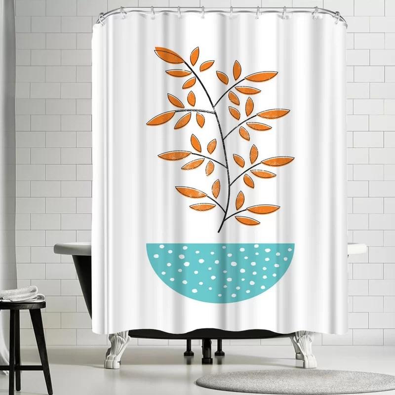 ikonolexi mid century modern single shower curtain