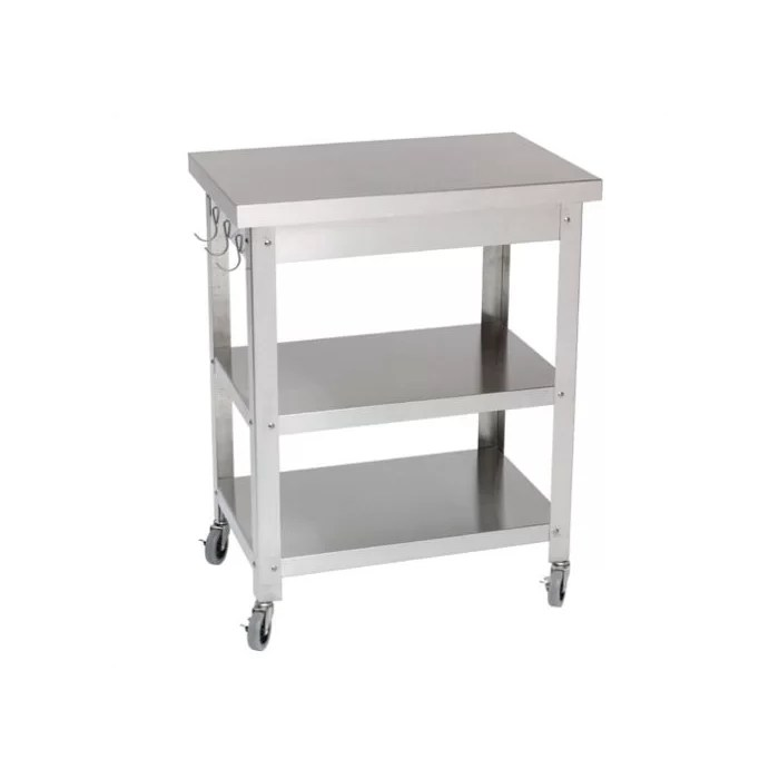 stainless steel kitchen cart degin danver reviews wayfair ca