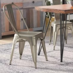 Tolix Side Chair Outdoor Double Rocking Black Marais Wayfair Hanna Dining Set Of 4
