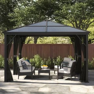 meridien 16 ft w x 12 ft d aluminum patio gazebo