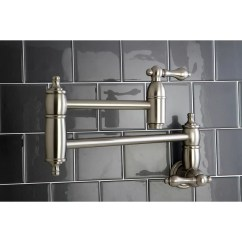 Kitchen Pot Filler Bridge Faucets Kingston Brass Restoration Wayfair