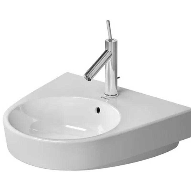 Starck Ceramic 22 Wall Mount Bathroom Sink with Overflow