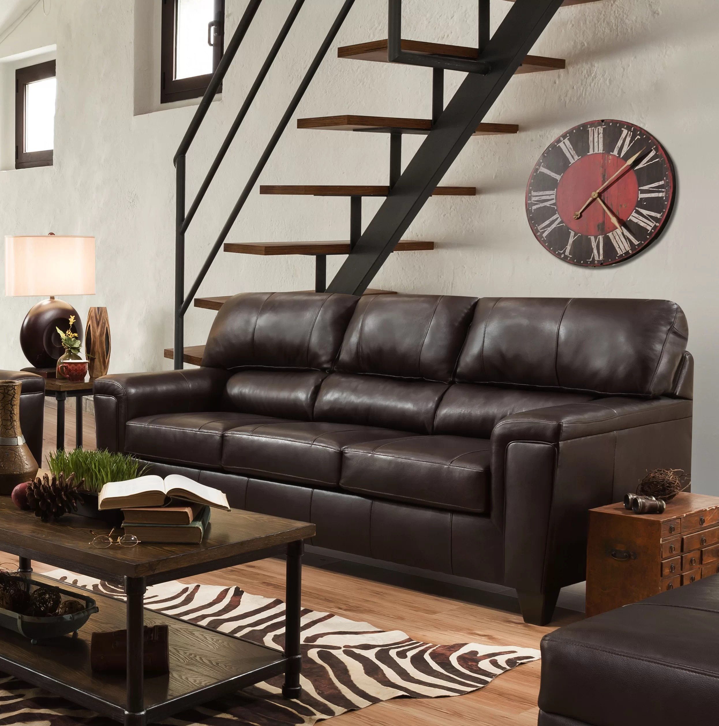 all leather sofa bed tidafors assembly winston porter coury wayfair ca