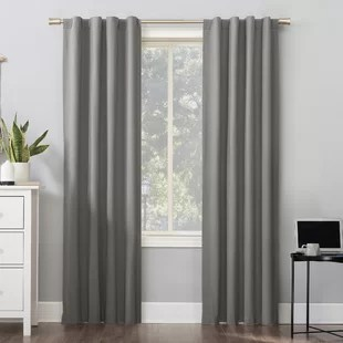 wayfair basics solid max blackout thermal rod pocket single curtain panel