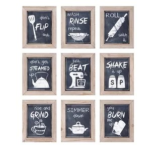 pictures for kitchen walls outdoor ideas on a budget wayfair 9 piece inspirations wall decor