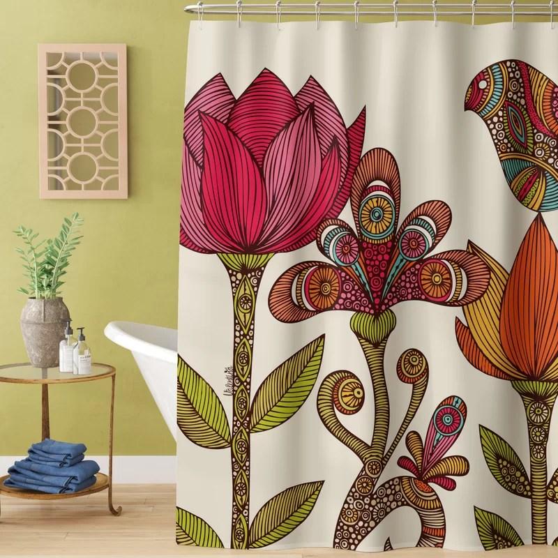 hadiqa the garden single shower curtain