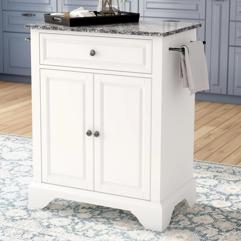 granite top kitchen cart dinette sets darby home co abbate with reviews wayfair