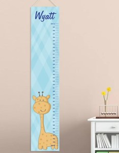 Baby boy giraffe personalized growth chart also jds ts rh wayfair