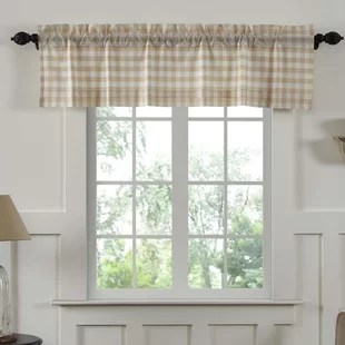 kitchen valance utensil valances curtains joss main caulder buffalo check lined window