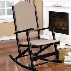 Folding Rocking Chair Wood Moon Covers Red Barrel Studio Cinthia Solid Reviews Wayfair