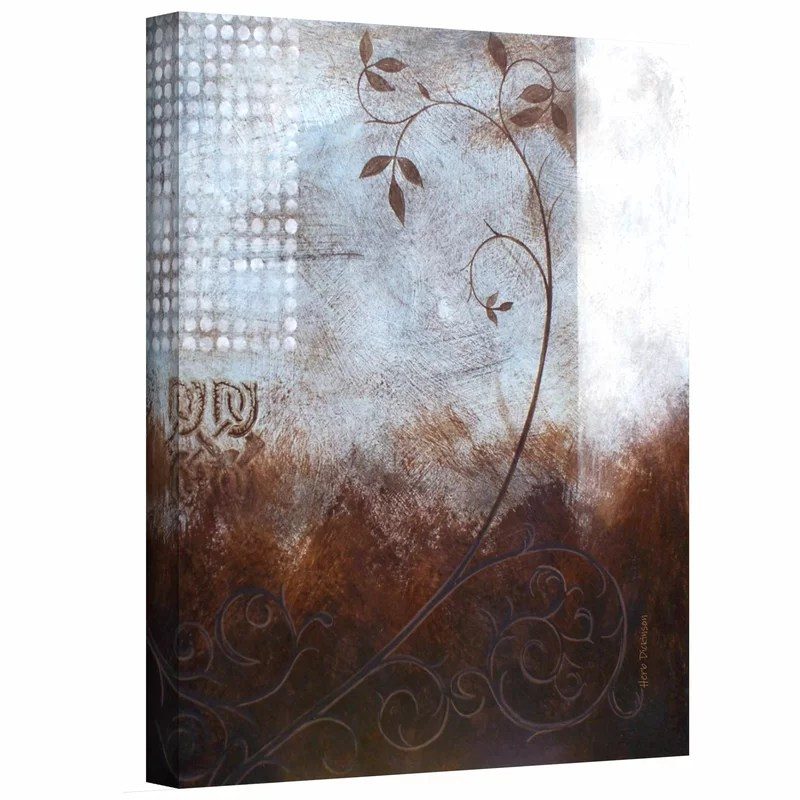 Splashy Umber II by Herb Dickinson Painting Print on Wrapped Canvas Size: 24 H x 18 W