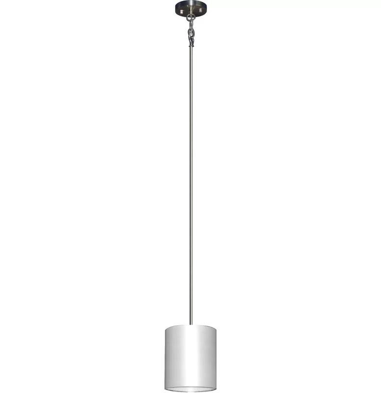 Olivo 1-Light Pendant Shade Color: Pristine White