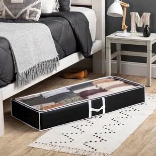 flexible zippered fabric underbed storage set set of 4