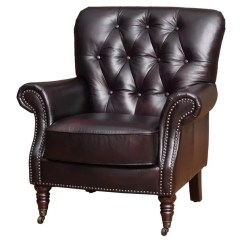Dark Brown Leather Chair Indoor Wicker Chairs You Ll Love Wayfair