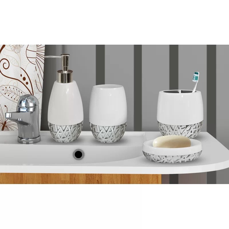 Stiltner 4 Piece Bathroom Accessory Set Reviews Joss Main