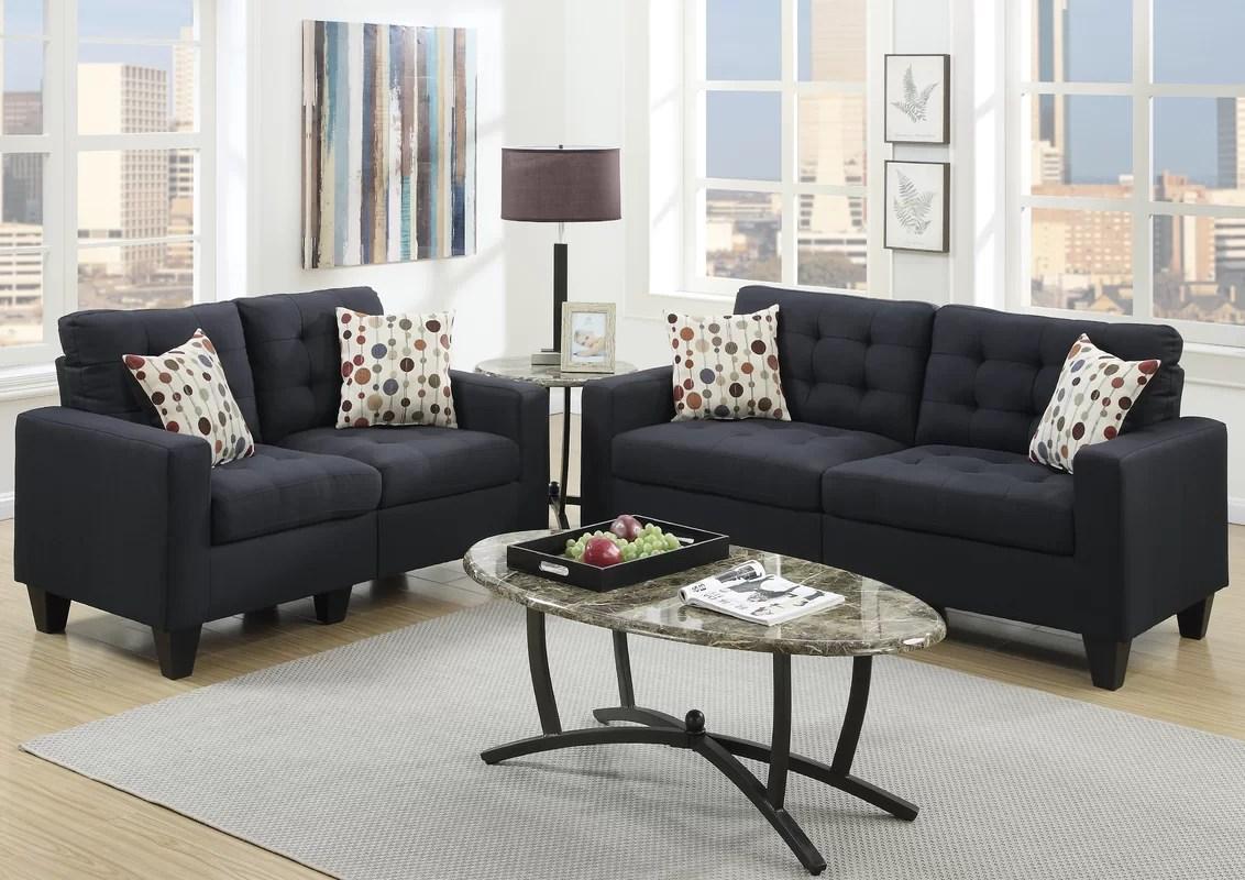 Andover Mills Callanan 2 Piece Living Room Set  Reviews  Wayfair