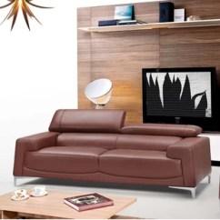 Modern Brown Leather Sofa Sleeper Sofas Naples Fl Saddle Wayfair Ca Tipton