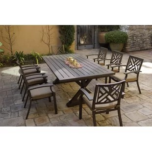 rustic eight person outdoor dining sets