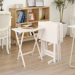 mischa tv tray table with stand set of 4