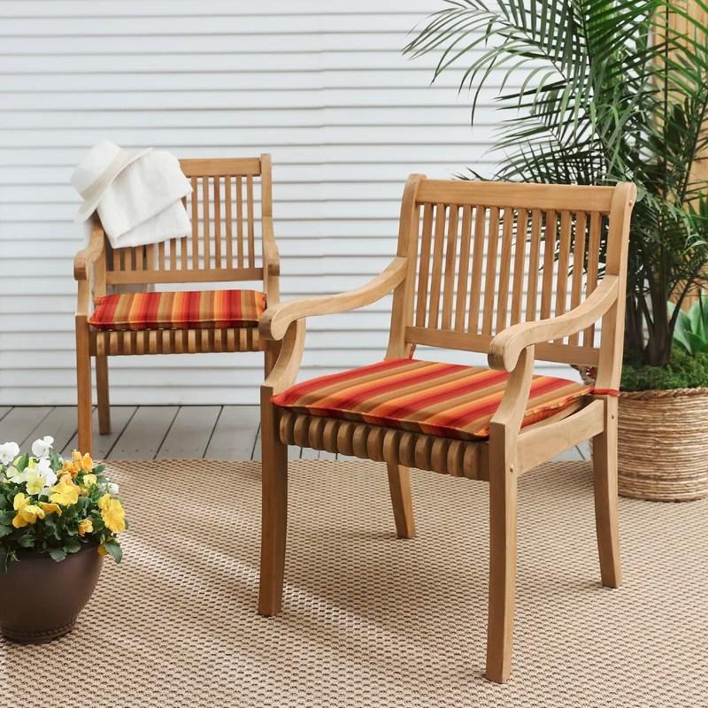 indoor outdoor sunbrella chair pad cushion