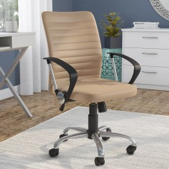 Home Desk Chairs Diy Repair Lawn Ebern Designs Leach High Back Chair Reviews Wayfair