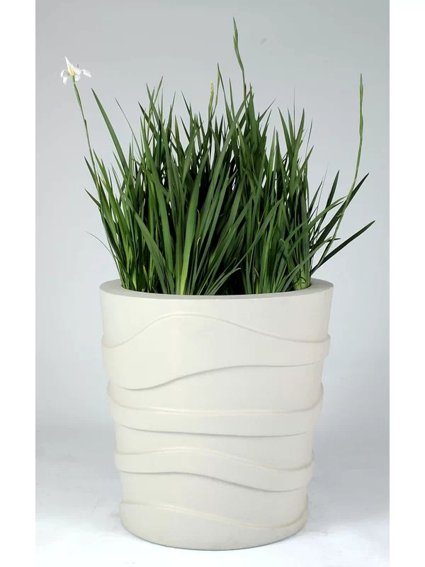 Plastic Pot Planter Color: Greige
