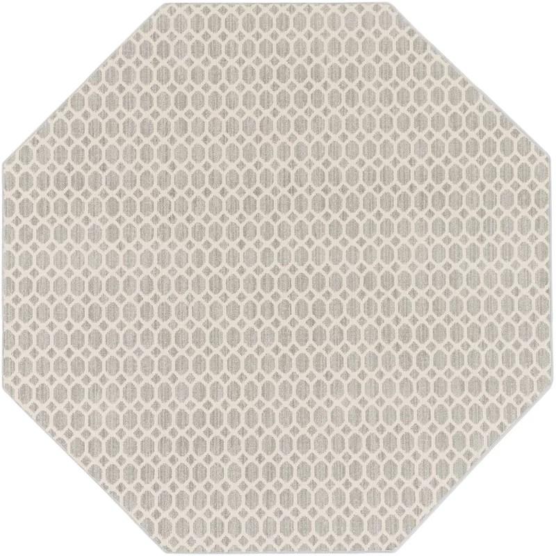 Casper Neutral Gray Indoor/Outdoor Area Rug Rug Size: Octagon 4