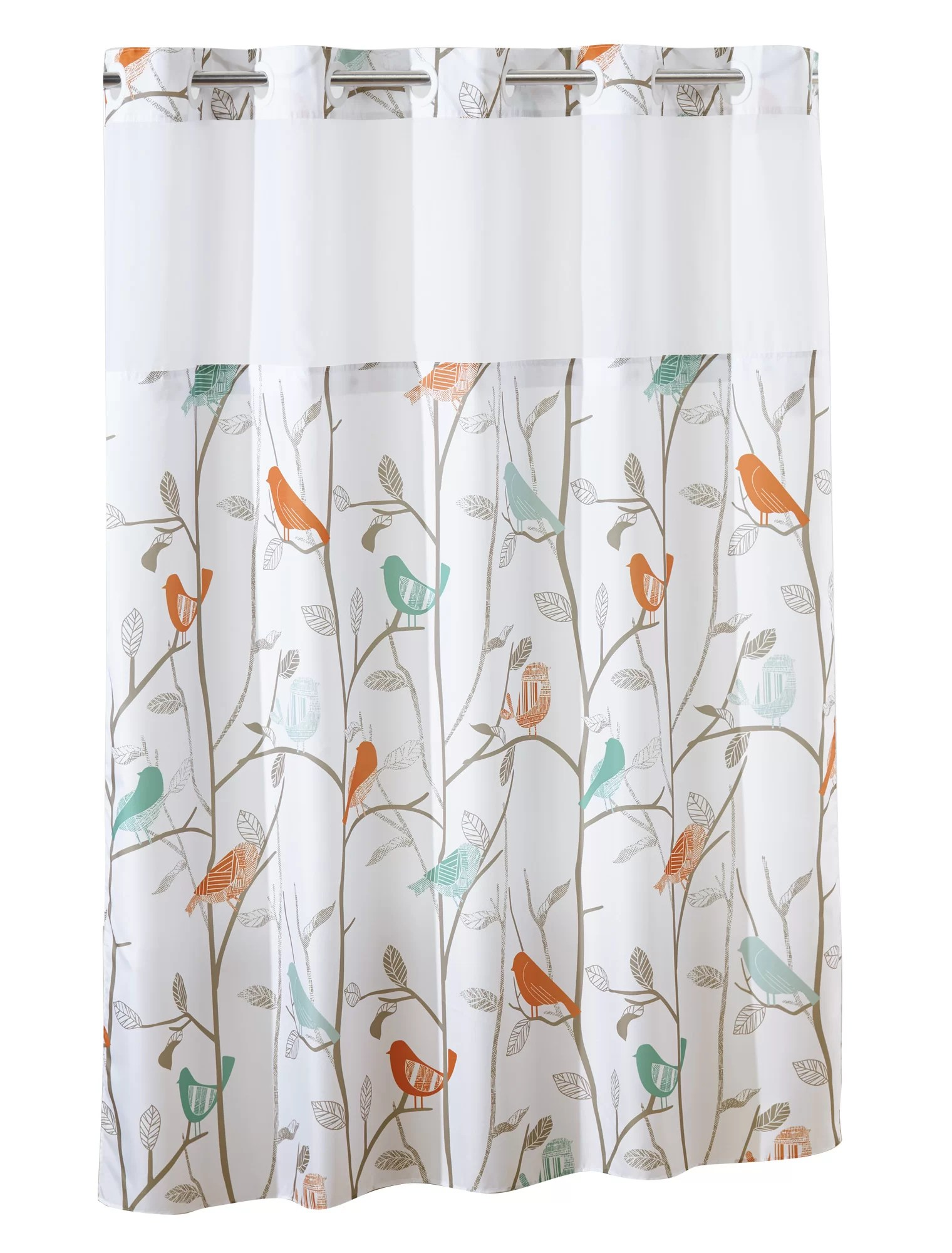 hookless shower curtain scandiary with peva liner multi colored