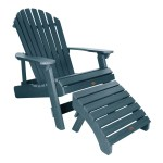Longshore Tides Deerpark Plastic Folding Adirondack Chair With Ottoman Wayfair