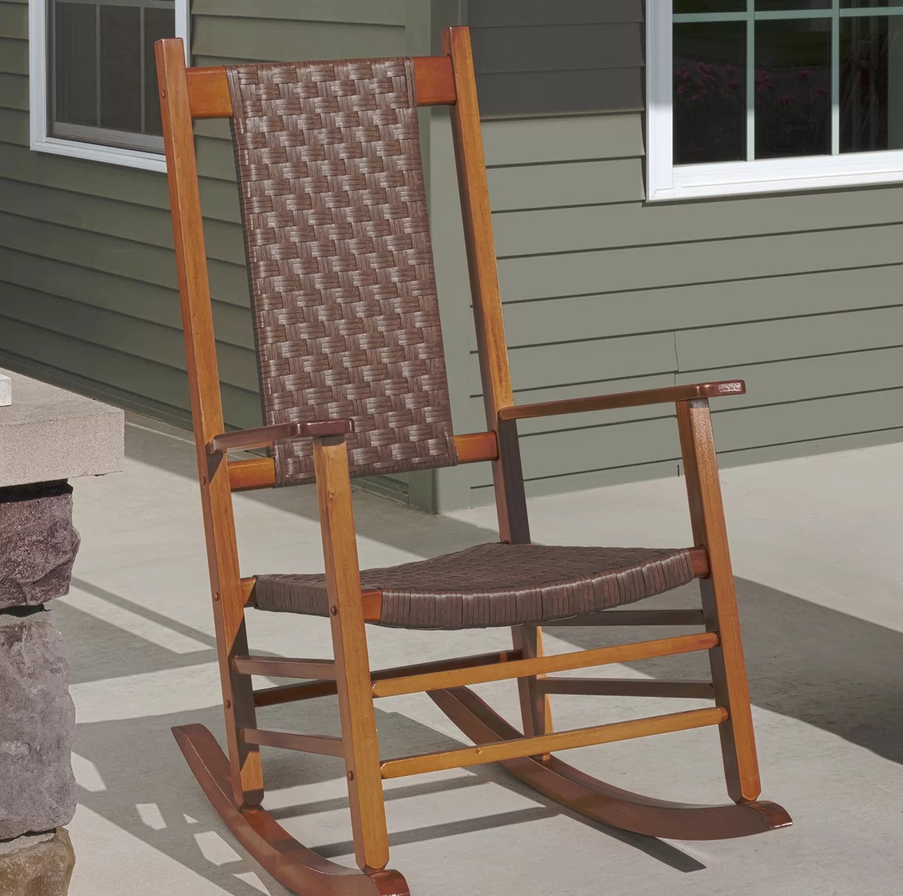 wicker rocking chairs chair embroidery design jack post knollwood reviews wayfair