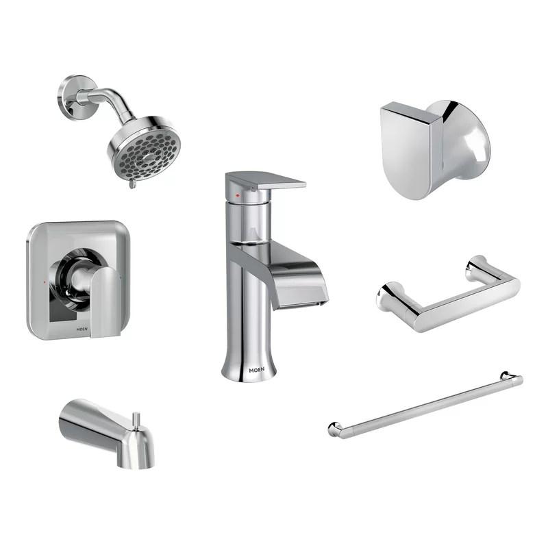 genta 7 piece bathroom hardware set