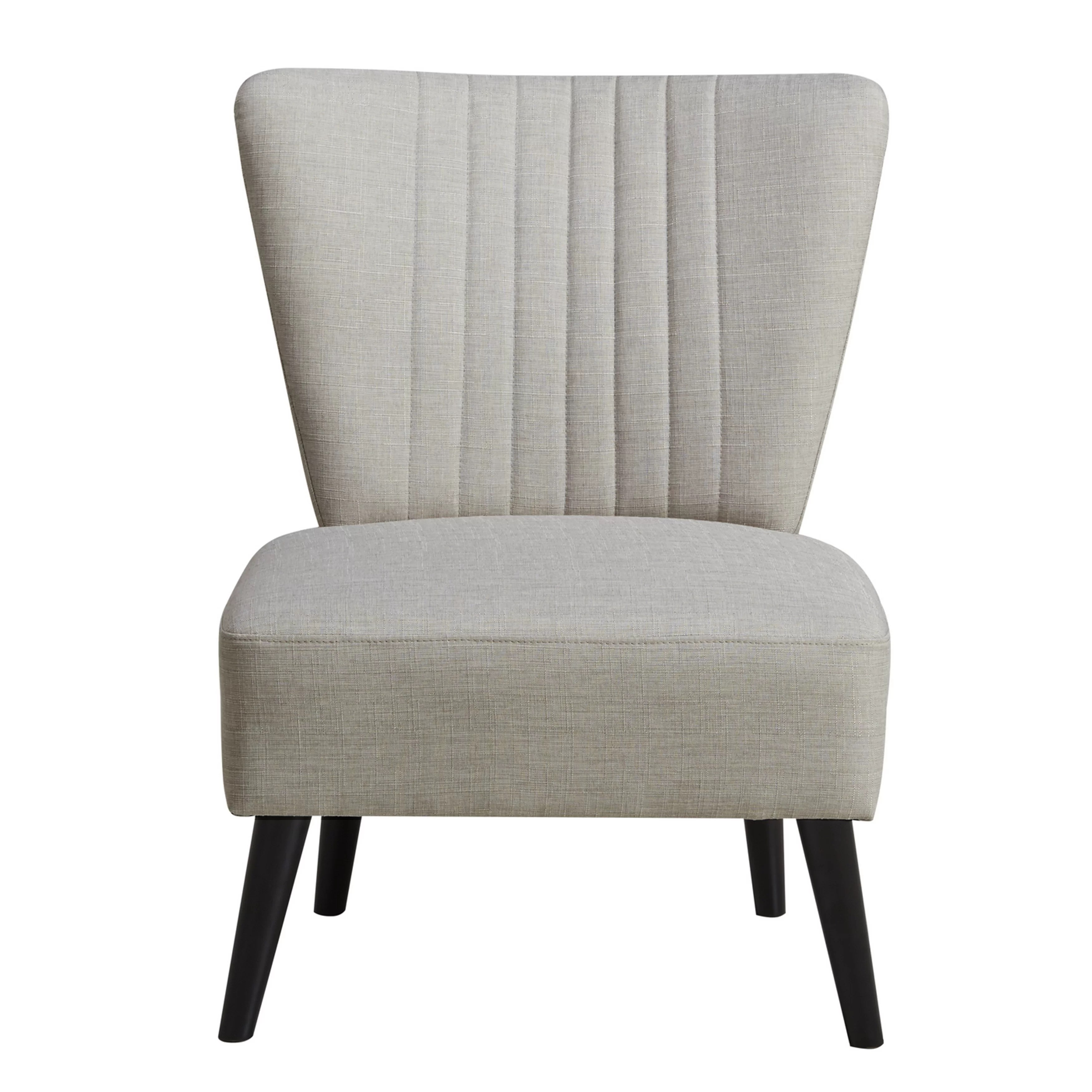 modern slipper chair steel two seater laurel foundry farmhouse thayer channeled back