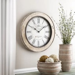 Big Wall Clocks For Living Room Light Blue Sets Oversized You Ll Love Wayfair 24 Clock