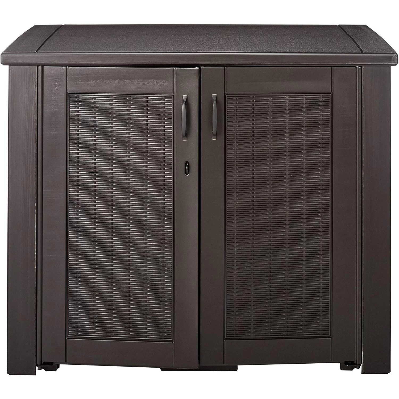 chic outdoor patio storage cabinet 123 gallon resin deck box