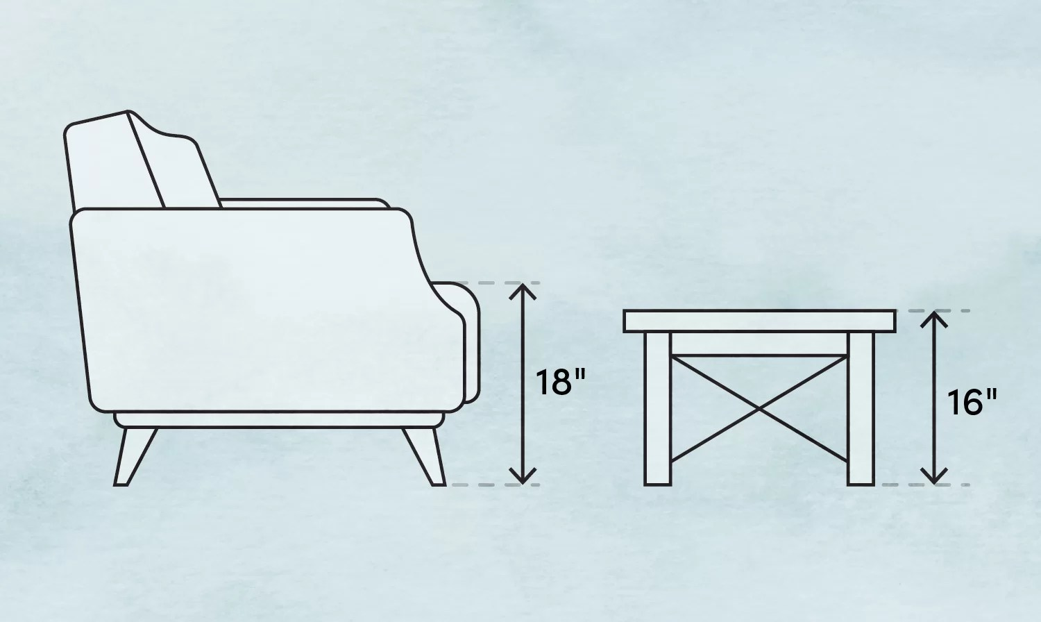 coffee table size how to choose the