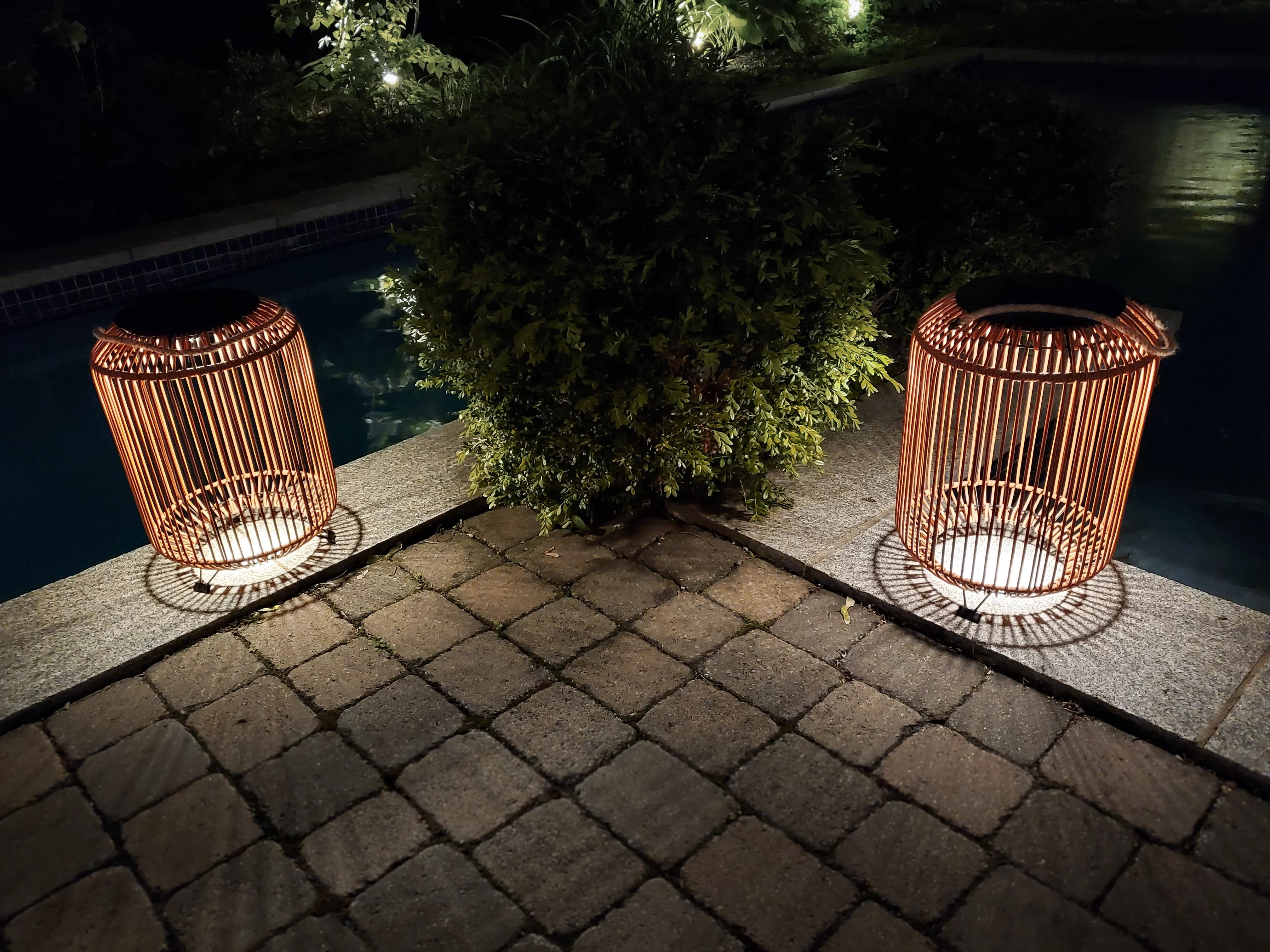 solar powered integrated led outdoor floor lamp