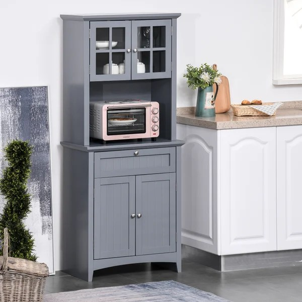 large microwave cabinet