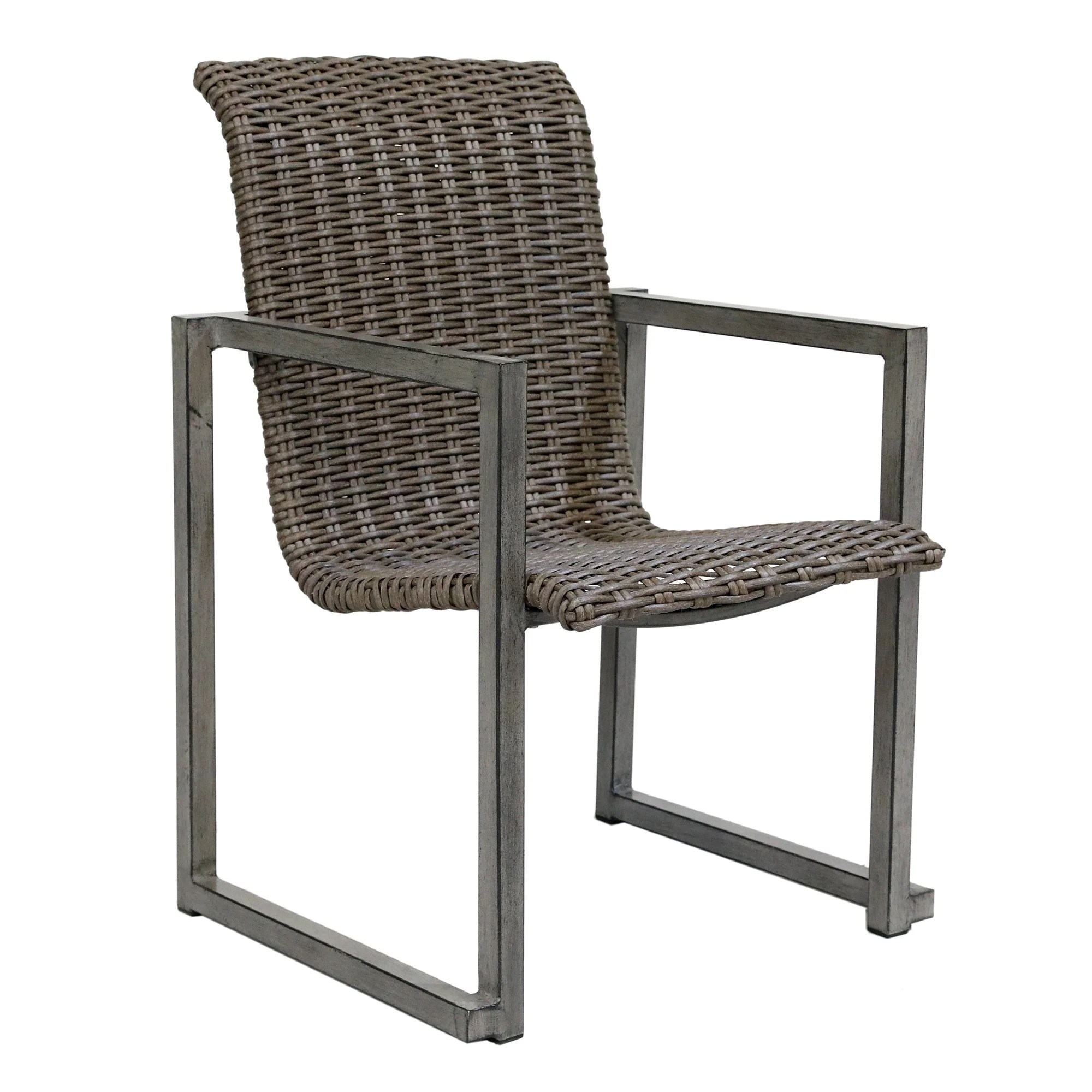 6 with arms wicker patio dining chairs